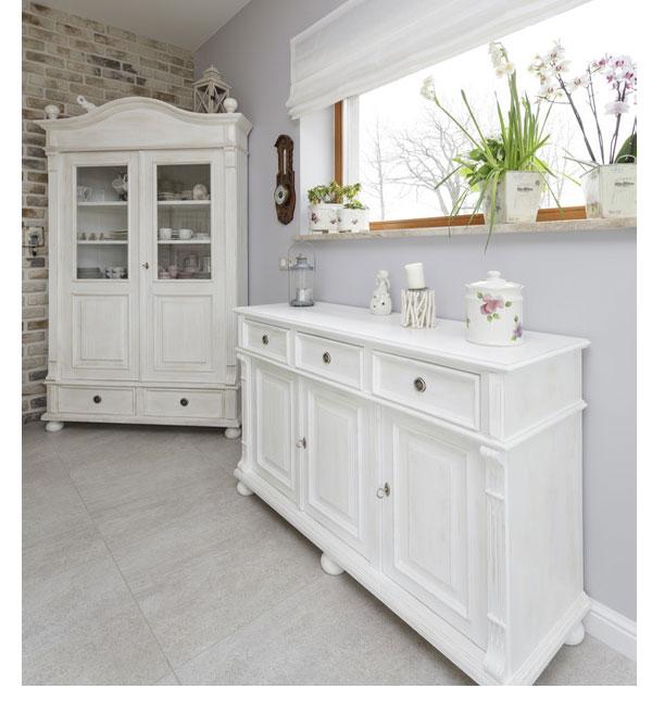 landhaus anrichte mit aufsatz klein 3 t rig 3 schubladen massiv aus holz. Black Bedroom Furniture Sets. Home Design Ideas