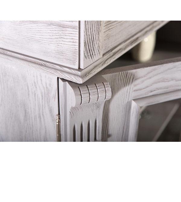 Vitrinenschrank für Wohnzimmer in Grau