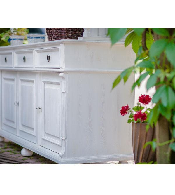 landhaus anrichte klein 3 t rig 3 schubladen massiv aus holz. Black Bedroom Furniture Sets. Home Design Ideas