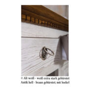 Möbel antik weiß-braun gebürstet