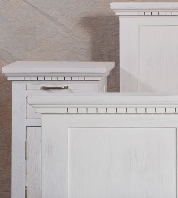 Bett 140x200 cm klassisch Lattenrost, 4 Schubladen optional - MASSIV ...