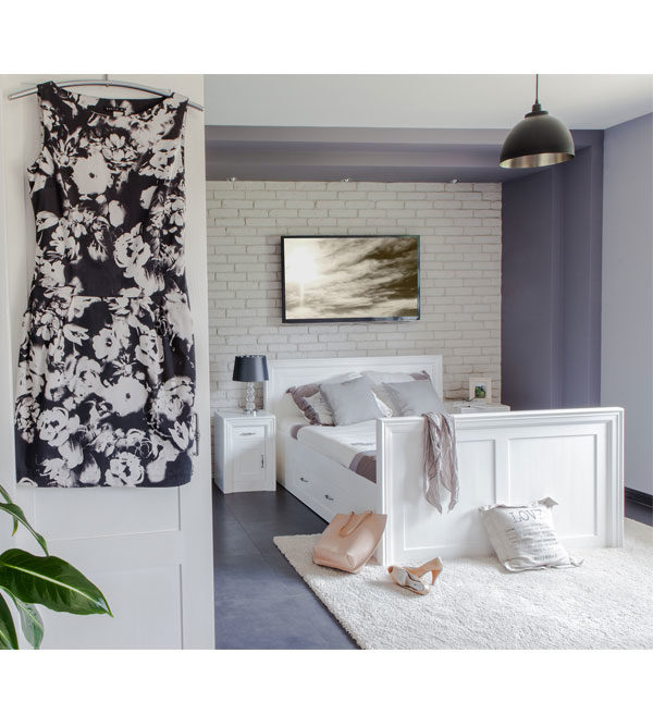 Weiße Massivholzmöbel Schlafzimmermöbel