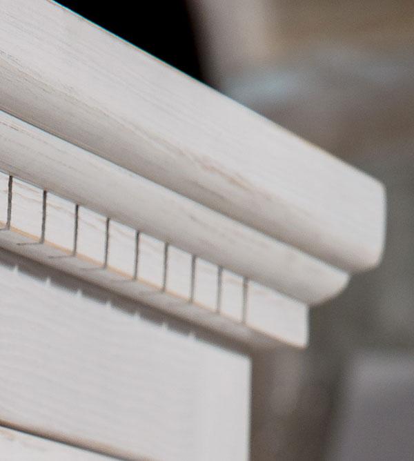Weiße Schränke esszimmerschrank klein klassisch 3 türig 3 schubladen massiv aus holz