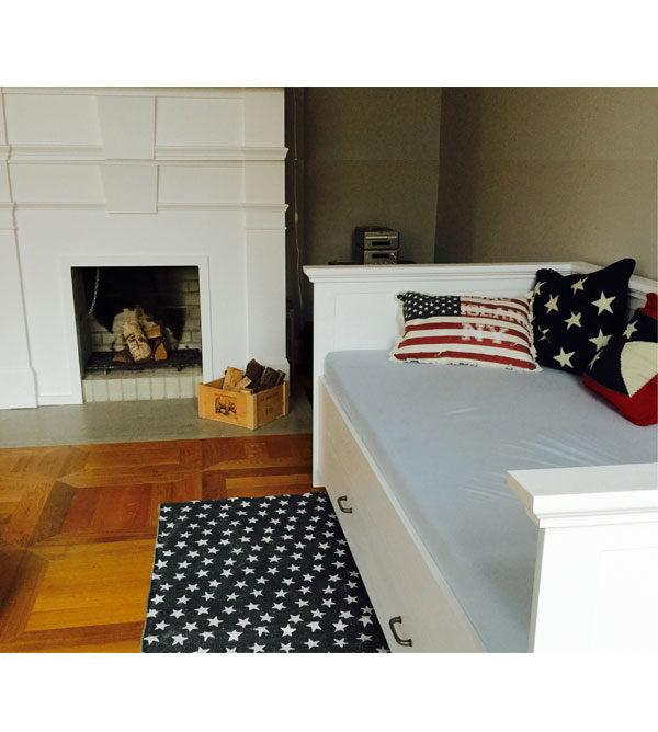 bett mit lehne 100x200 cm lattenrost 2 schubladen optional massiv aus holz. Black Bedroom Furniture Sets. Home Design Ideas