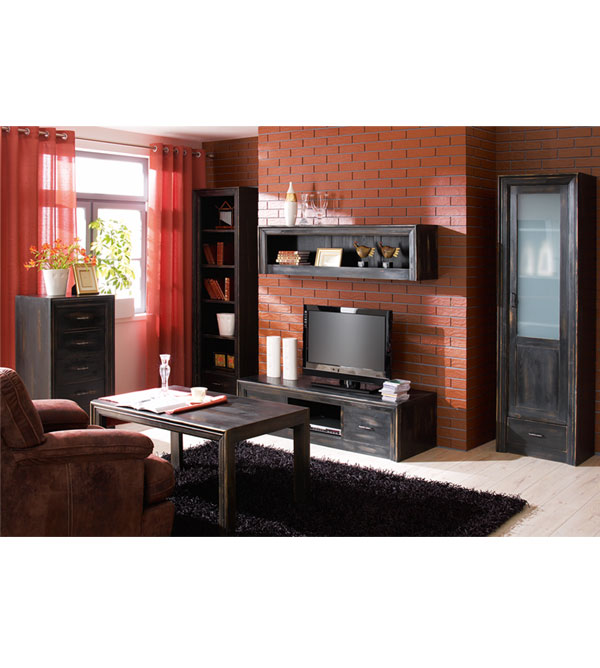 standregal mit 1 schublade modern collection massiv aus holz. Black Bedroom Furniture Sets. Home Design Ideas
