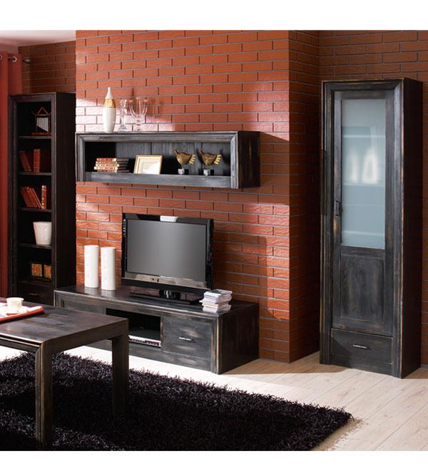 standregal mit 1 schublade modern collection massiv aus holz. Black Bedroom Furniture Sets. Home Design Ideas