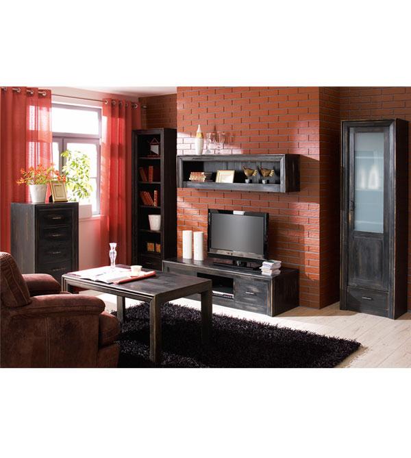 Fernsehschrank modern  TV Lowboard mit 2 Schubladen modern - MASSIV AUS HOLZ