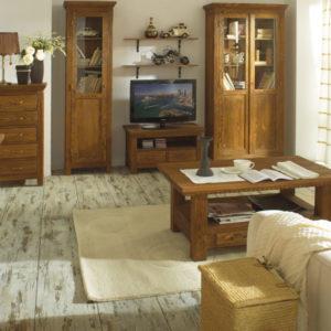 Wohnzimmer Wandregal vollholz