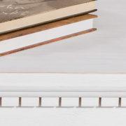 Wohnzimmermöbel Couchtisch in Weiß shabby chic gewischt
