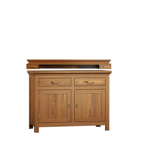 schrank mit aufsatz gro 2 t rig mit 2 schubladen massiv aus holz. Black Bedroom Furniture Sets. Home Design Ideas