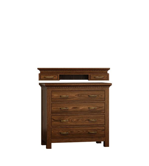 kommode mit aufsatz klein mit 4 schubladen massiv aus holz. Black Bedroom Furniture Sets. Home Design Ideas