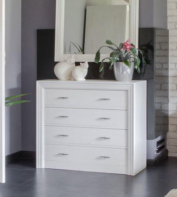 kommode mit 4 schubladen modern collection massiv aus holz. Black Bedroom Furniture Sets. Home Design Ideas