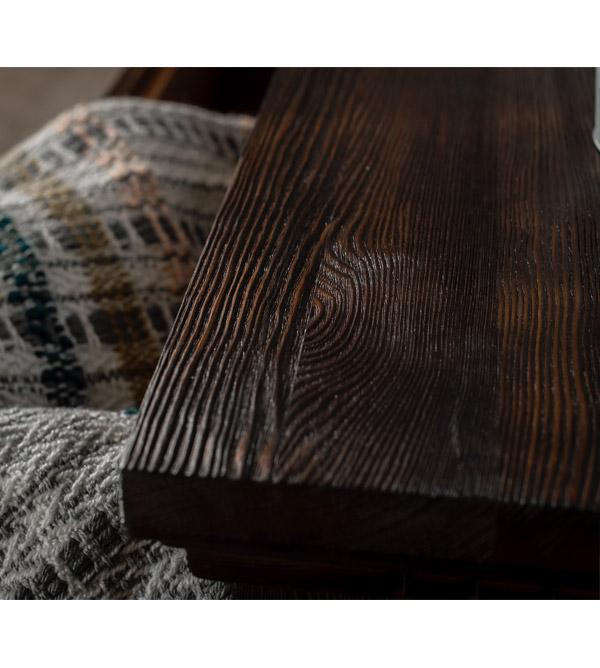 Holz rustikal braun
