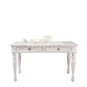 Angebot Tisch 140x200 cm Alt weiß shabby chic gewischt