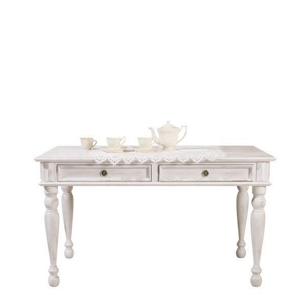 Tisch mit Schubladen 90-200 cm im Landhausstil