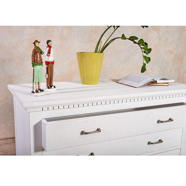 kommode klein klassisch mit 4 schubladen massiv aus holz. Black Bedroom Furniture Sets. Home Design Ideas