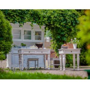 Weißer Konsolentisch klein Landhausmöbel
