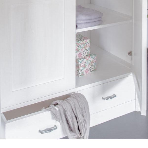 2-türiger Kleiderschrank in Weiß