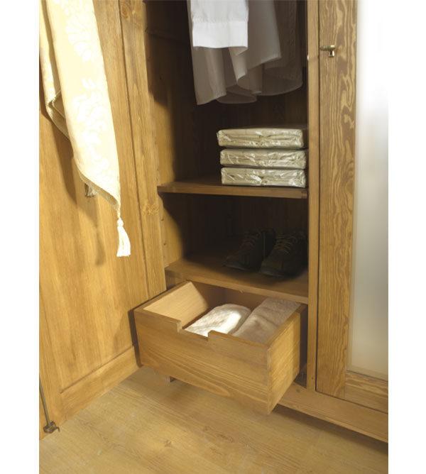 Kleiderschrank mit Schubladen Echtholzmöbel