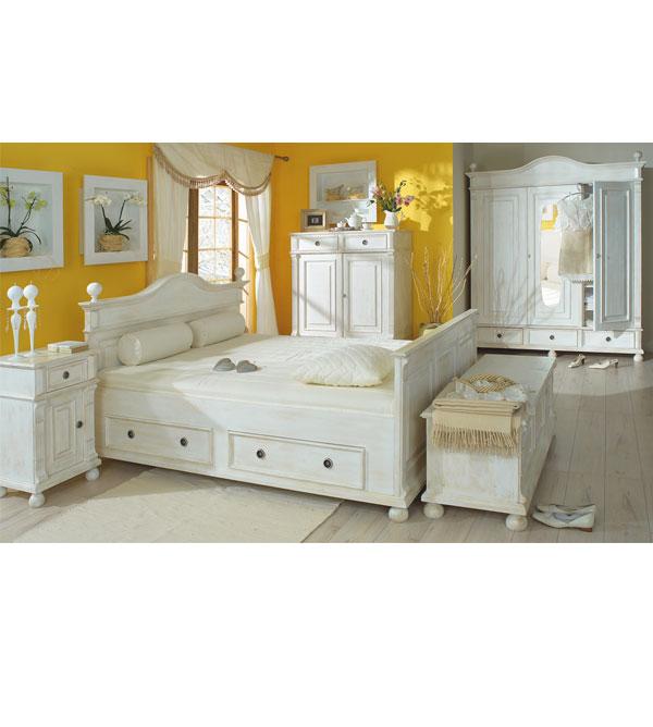 landhaus b cherregal klein mit 2 schubladen massiv aus holz. Black Bedroom Furniture Sets. Home Design Ideas