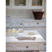 Landhaustisch in Weiß mit Schubladen