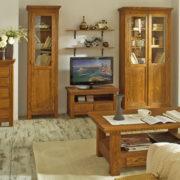 Wohnzimmermöbel Vitrinen Echtholz Kiefer