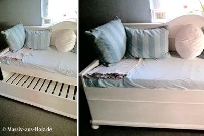 Praktisches Bett mit Unterbett
