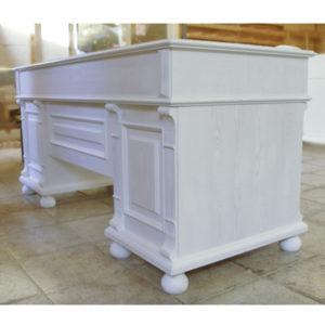 Landhaus Schreibtisch in Antik weiß