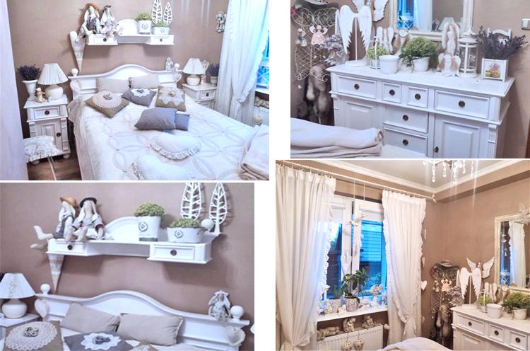 Schlafzimmer im Landhausstil - dekoriert mit Shabby Chic Charme