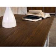 Massivholzmöbel 2-farbig weiß-braun