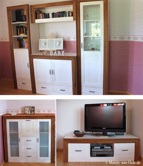 2-farbige moderne Holzmöbel im Wohnzimmer