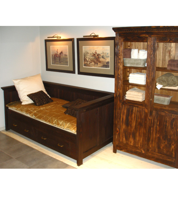 bett mit lehne 90x200 cm lattenrost 2 schubladen optional massiv aus holz. Black Bedroom Furniture Sets. Home Design Ideas