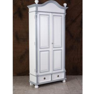 Garderobenschrank 2-farbig weiss grau
