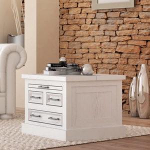 Wohnzimmertisch modern in Weiß gewischt