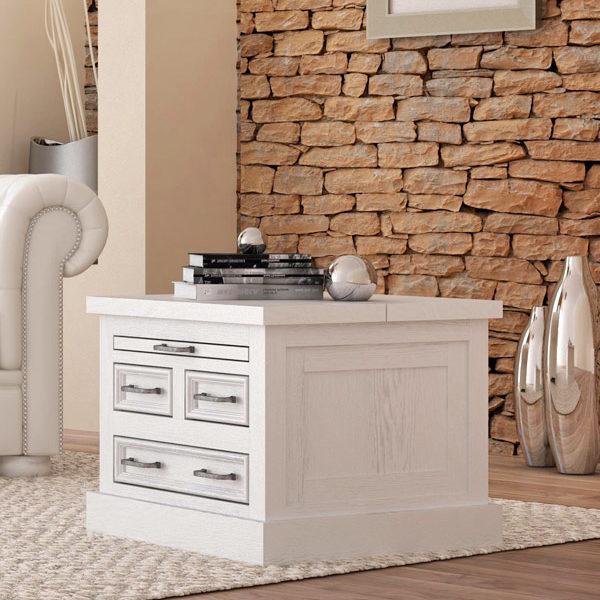 wohnzimmertisch modern schubladen ausziehfach truhe massiv aus holz. Black Bedroom Furniture Sets. Home Design Ideas