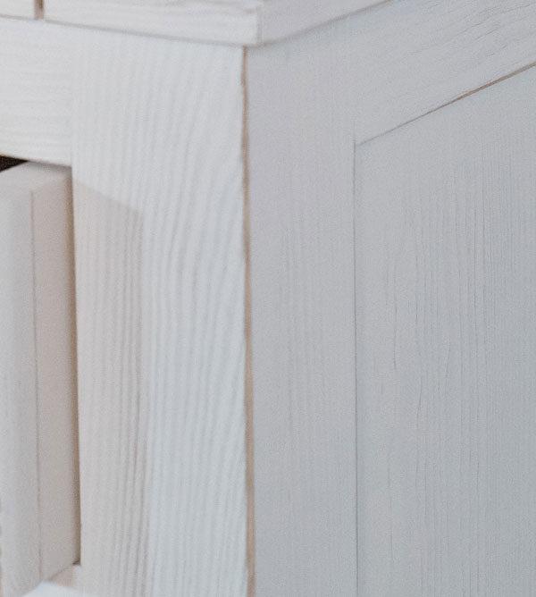 Massivholz Nachtschrank weiß