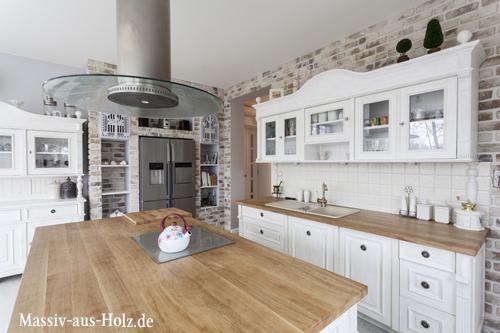 Homestory über moderne Landhausküche - MASSIV AUS HOLZ | {Amerikanische landhausküche grau 15}