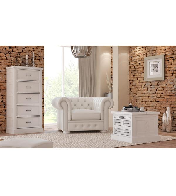 Wohnzimmertisch modern schubladen ausziehfach truhe massiv aus holz for Moderne wohnzimmertische