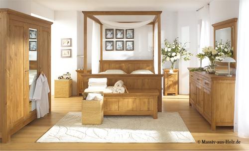 Kingsize Bett - Himmelbett mit Schubladen