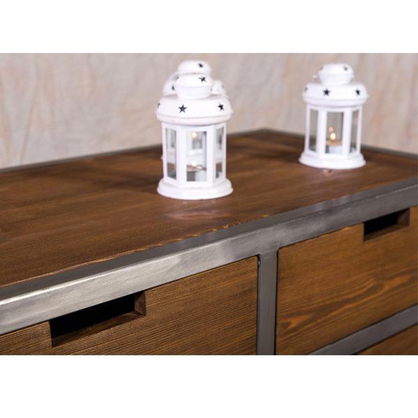 Sideboard im industriedesign 3 t rig 3 schubladen massiv for Schrank industriedesign