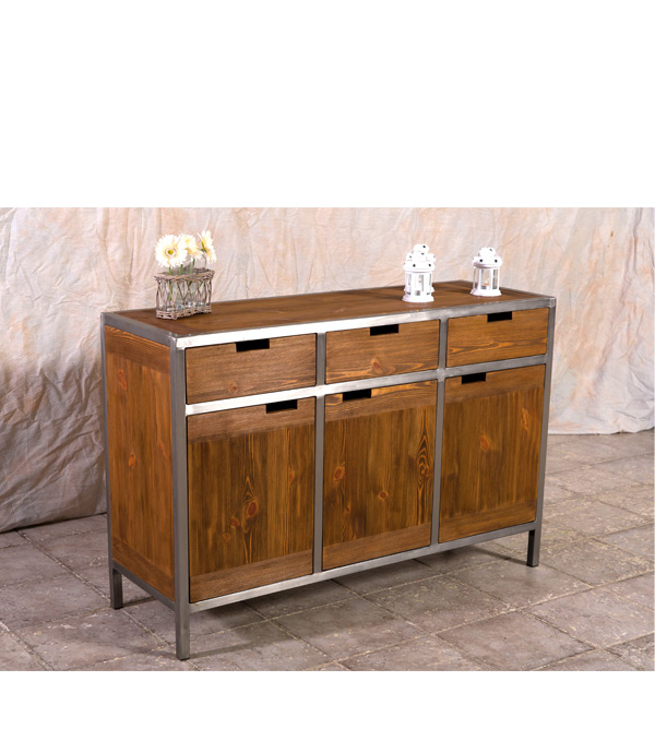 sideboard im industriedesign kategorie massiv aus holz. Black Bedroom Furniture Sets. Home Design Ideas
