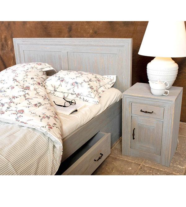 Schlafzimmermöbel - Holzmöbel in Farbe Grau