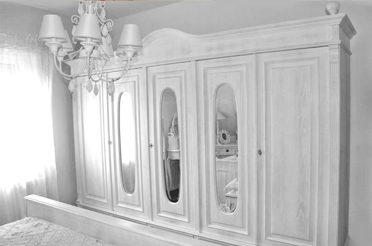 5-türiger Kleiderschrank mit Spiegel 250 cm