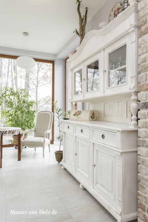 Buffetschrank - Küchenschränke im Landhausstil, Farbe: Alt weiß