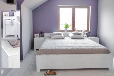 Faszination für Moderne und Romantik – Massivholzbett modern