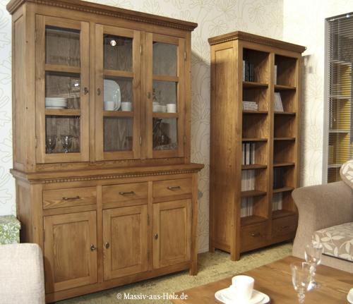 Wohnzimmermöbel holz massiv  Massivholzmöbel in Braun – ein gelungenes Gestaltungsbeispiel im ...