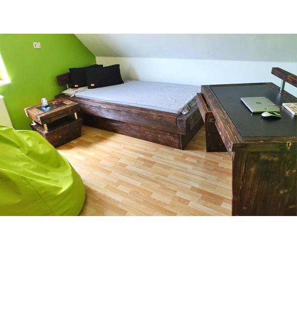 Schreibtisch Aus Balkenholz Massiv Aus Holz