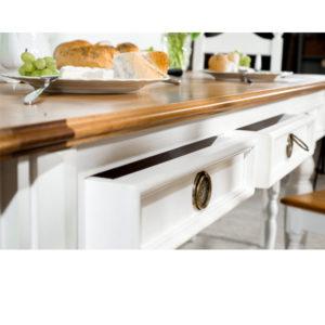 Küchentisch mit Schubladen aus Holz