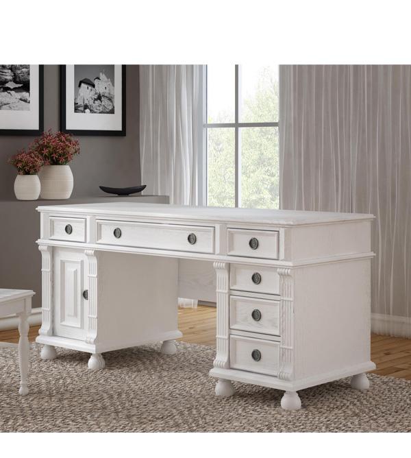 schreibtisch weiss holz landhaus. Black Bedroom Furniture Sets. Home Design Ideas