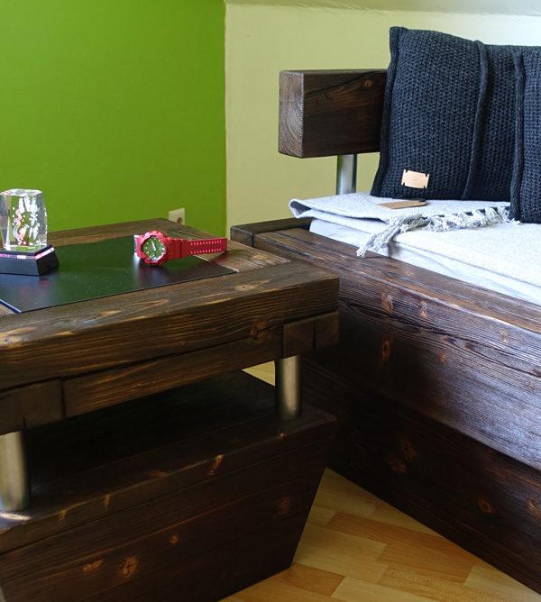Wohnzimmer - Holzmöbel dunkelbraun rustikal